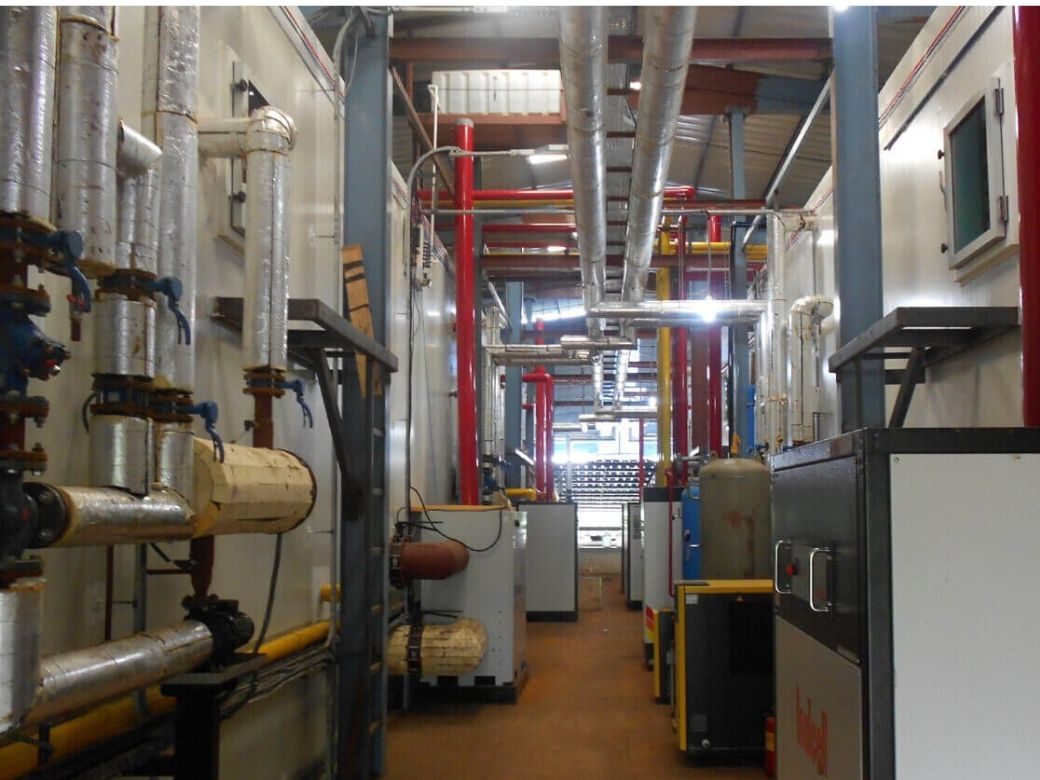 Controlled Atmosphere cold Storage project Machine Room area